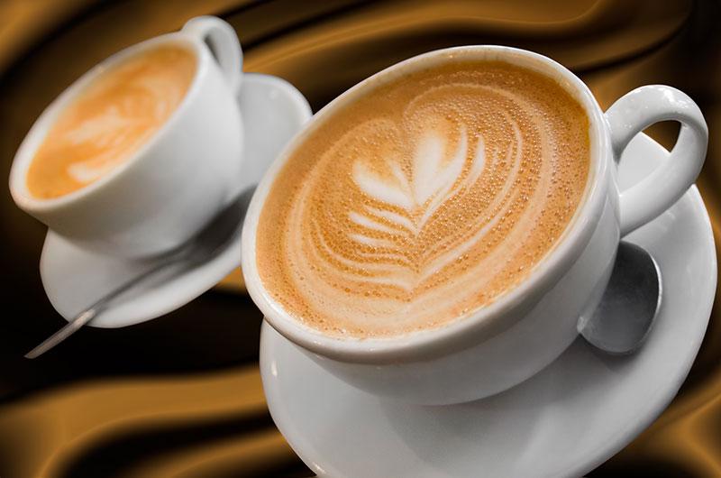 Der Kaffee ist lecker